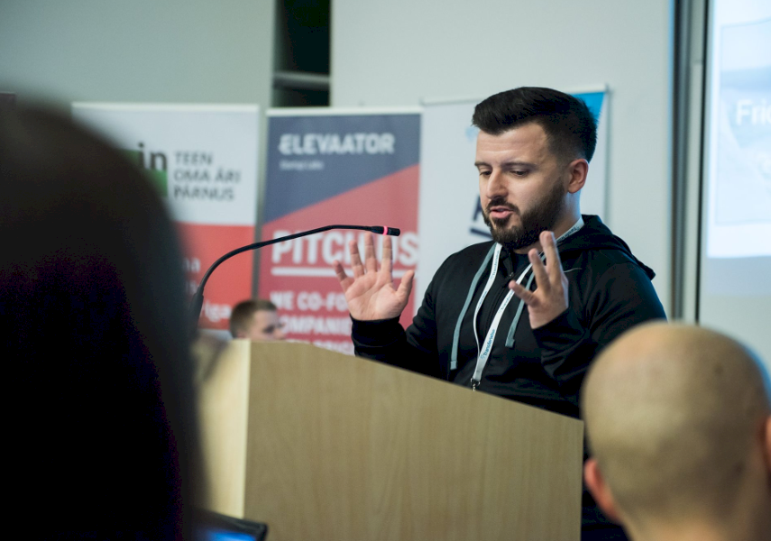 PITCH BATTLE: TBT contributor Stuart Garlick pitching his ideas to developers.