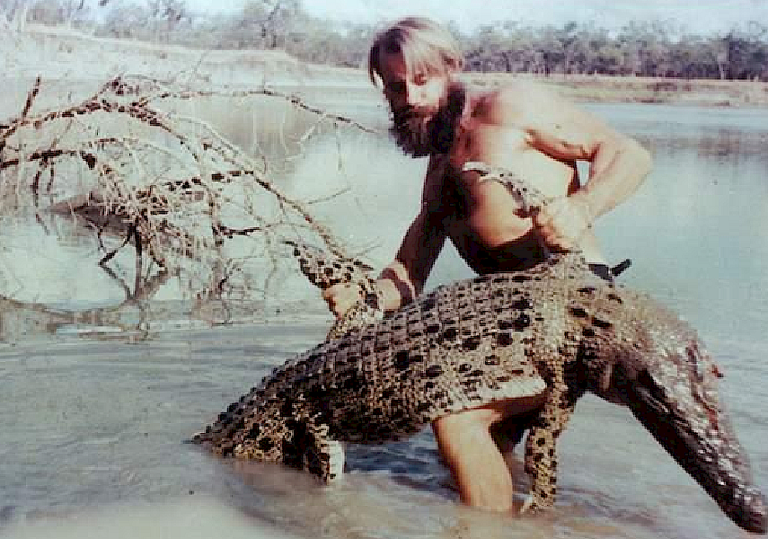 "LEGEND OF THE OUTBACK: Latvian-Australian Arvids Blumentals, otherwise known as ""Crocodile Harry""."