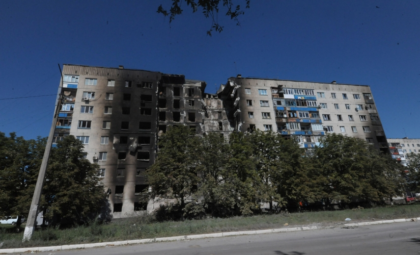 A result of the fighting in Donetsk {Image: Mashable]