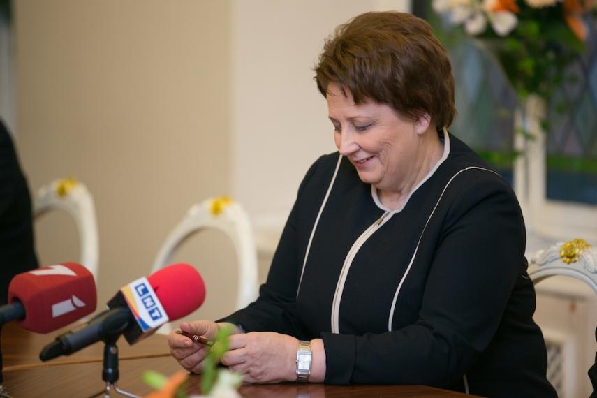 Laimdota Straujuma resigned on December 7 [Image: Wiki Commons]