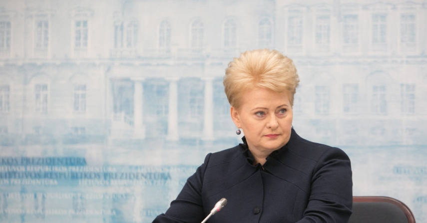 Dalia Grybauskaite is unsure on the EC's border service strategy [Image: 15min.lt]
