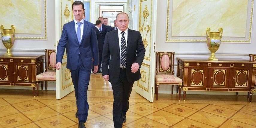 Syrian President Assad (left) with Russian President Vladimir Putin (right) [Image: huffingtonpost.com.au]