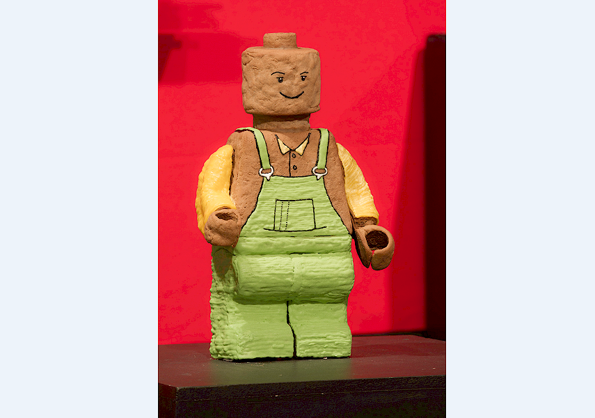 GINGERBREAD LEGO: Just a few of the delicious artworks.