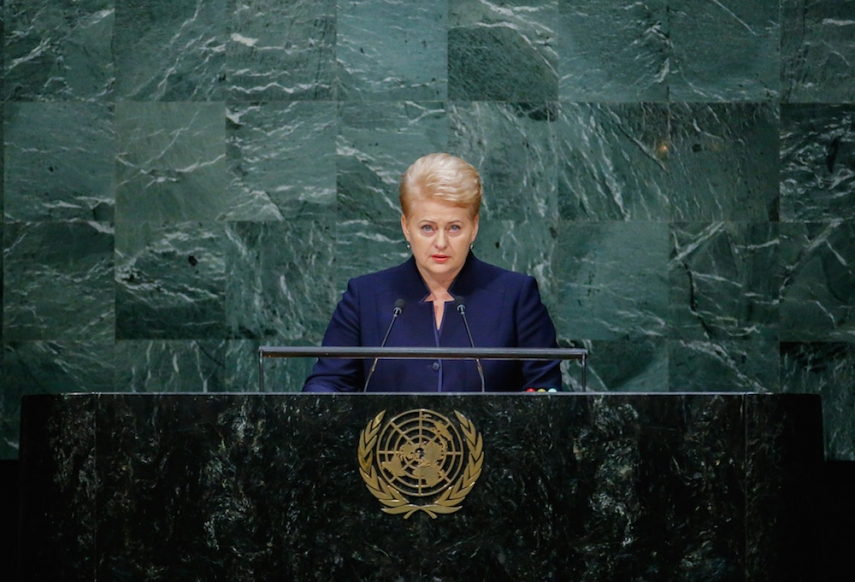 Lithuanian President Dalia Grybauskaite will not run for the position of UN Secretary-General