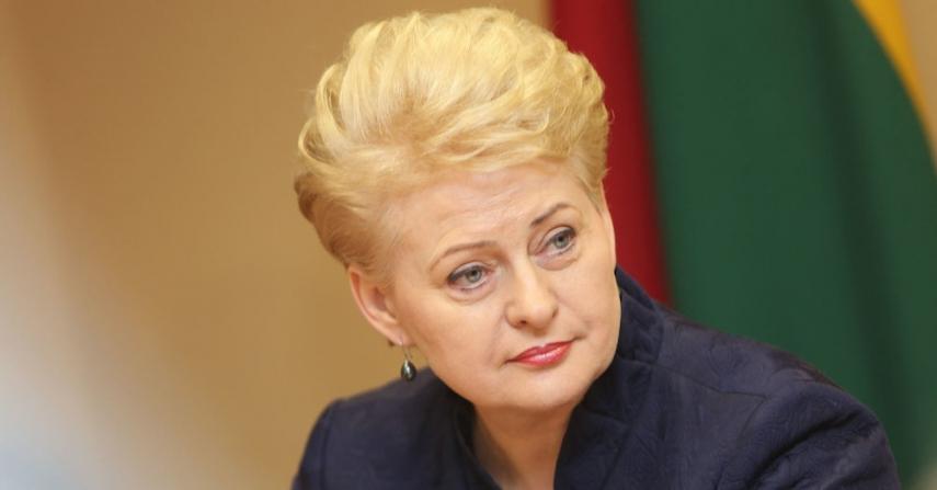 Lithuanian President Dalia Grybauskaite [Image: 15min.lt]