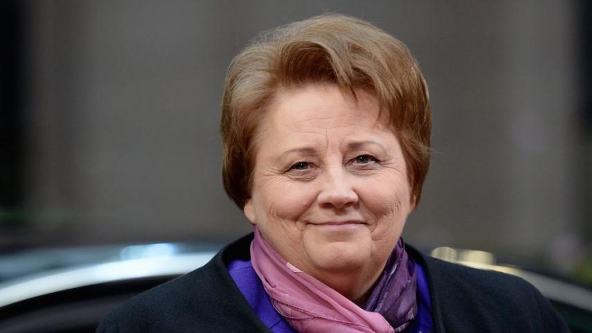 Departing Latvian Prime Minister Straujuma [Image: lexpress.fr]