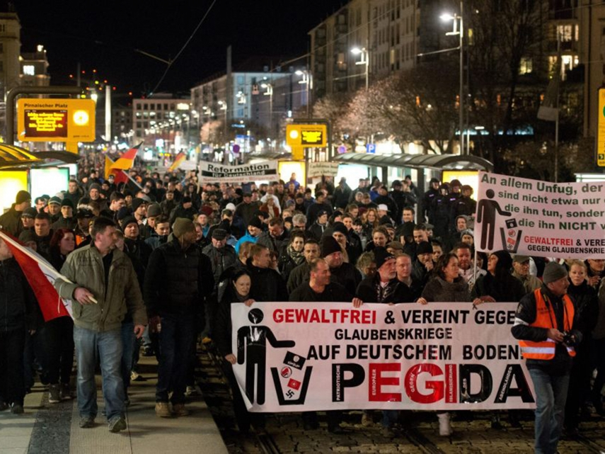 A PEGIDA rally [Image: The Independent]