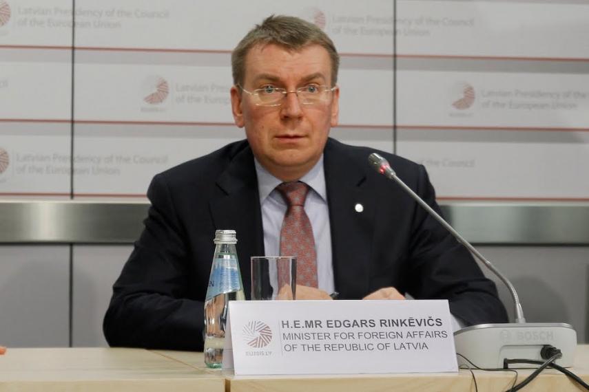 Latvian Foreign Minister Rinkevics [Image: EU2015.lv]