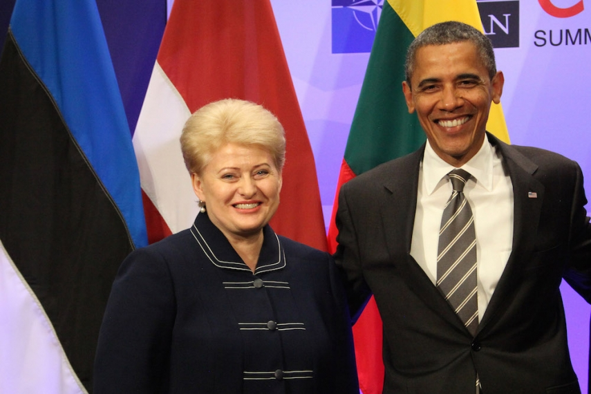 Presidents Grybauskaite (left) and Obama (right) [Image: LRP.lt]