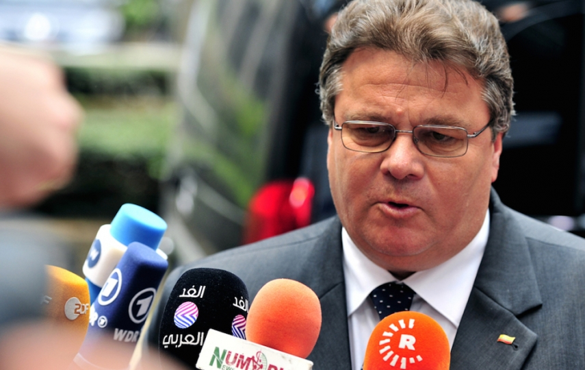 Foreign Minister Linkevicius (pictured) described the journalists as