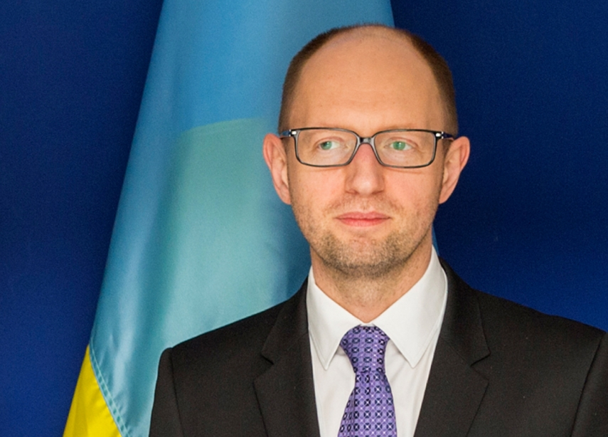 Ukrainian PM Yatsenyuk (pictured) announced he will resign during the week of April 11 [Image: Wiki Commons]