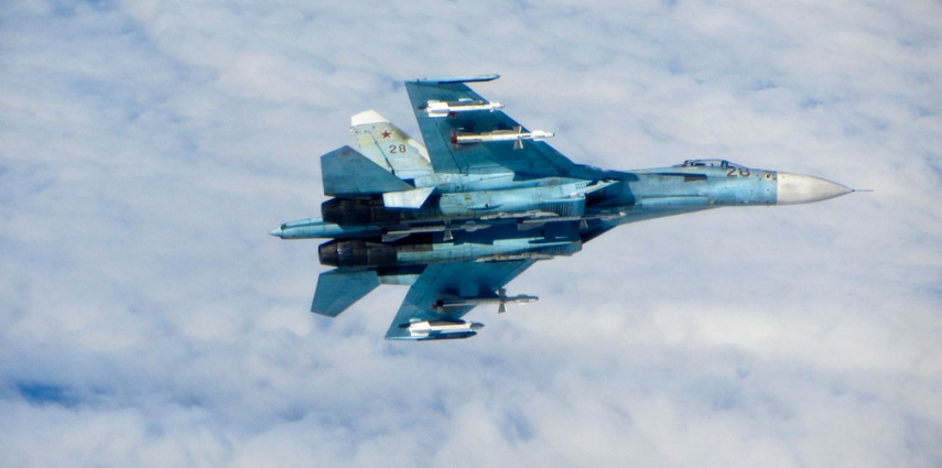 Russian Su-27 jet [RAF/MOD]