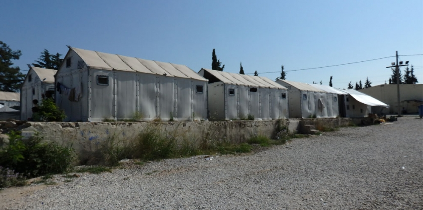 Accomodations for refugees at Diavata refugee camp in Greece [Sorneguer]