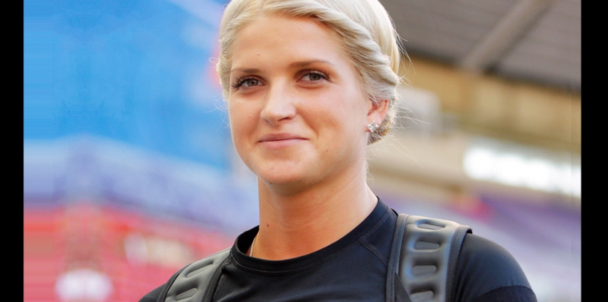 Injury has taken LV women's javelin hurler Lina Muze out of the Games [Augustas Didzgalvis]
