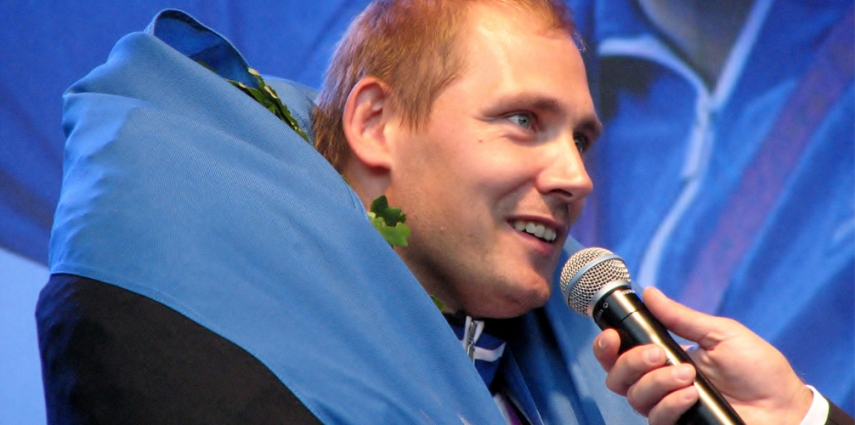 Gerd Kanter at the London Games [Ave Maria Moistlik]