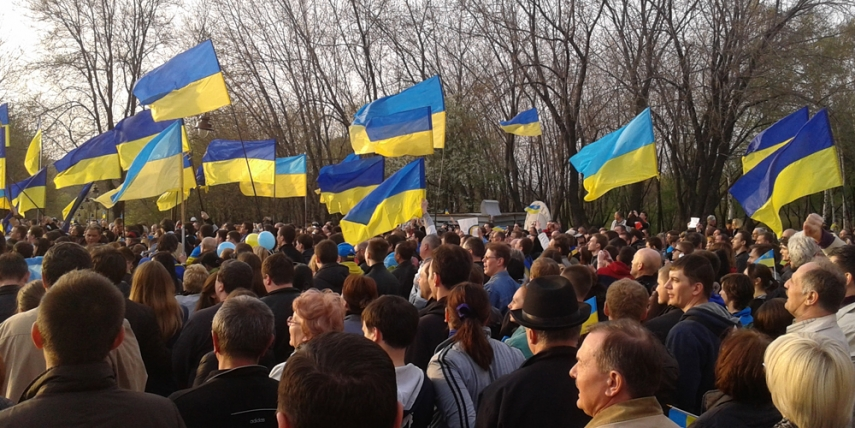 Ukrainian protests in April 2014 [Yakudza]