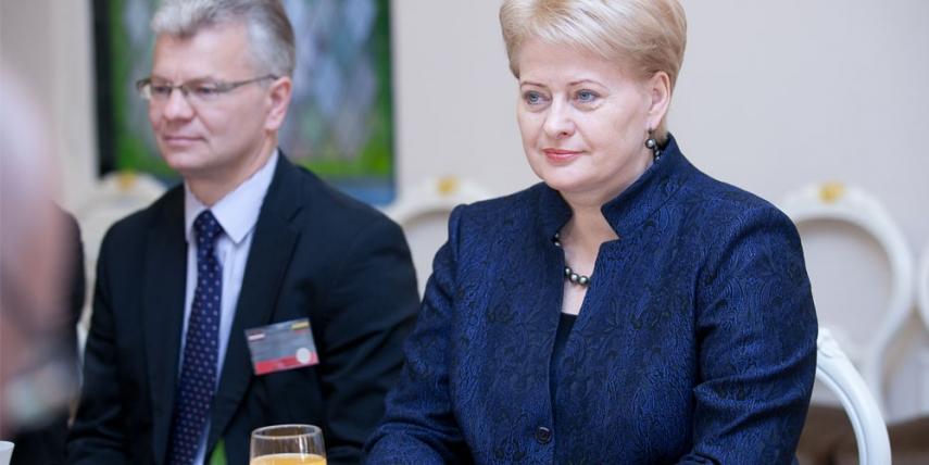 Dalia Grybauskaite in 2012 [Saeima]