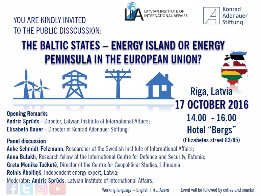 The Baltic States – an Energy Island or Energy Peninsula in the European Union?