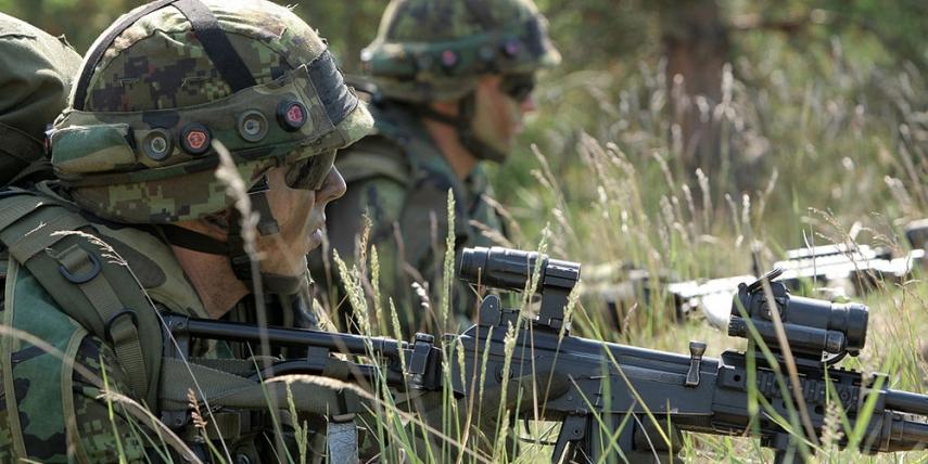 Estonian soldiers train in Adazi, Latvia [Gatis Diezin]