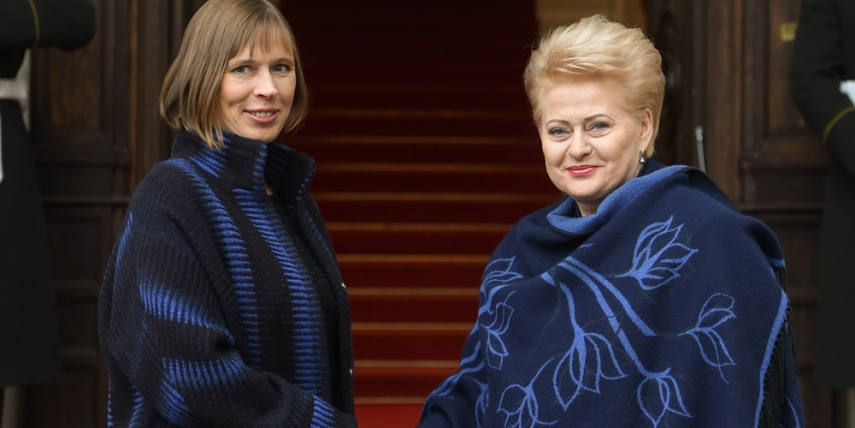 Official meeting of Presidents Kaljulaid and Grybauskaite [The Office of the President of the Republic of Lithuania, Robertas Dackus]