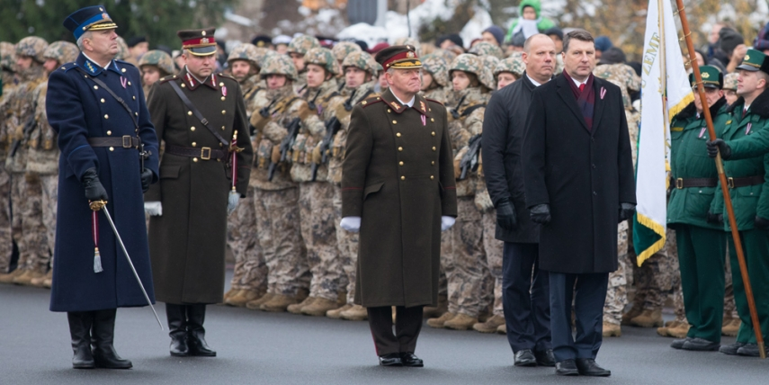 Military parade in Riga [Saeima]