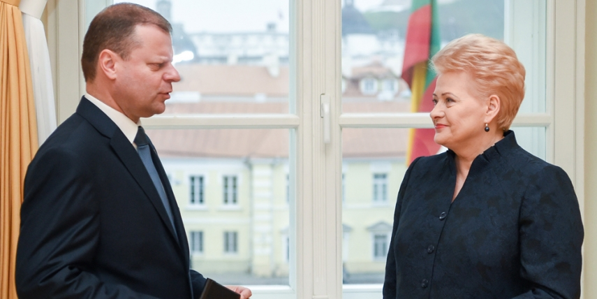 Dalia Grybauskaite meets with PM candidate Saulius Skvernelis [The Office of the President of the Republic of Lithuania, Robertas Dackus]