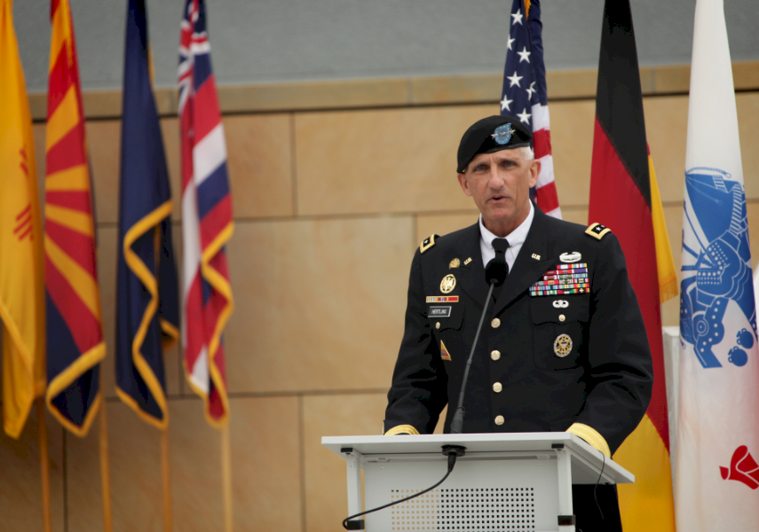 Mark Hertling is a retired Commanding General of the US Army Europe and the Seventh Army.