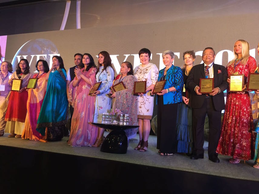 "The annual summit of Women Economic Forum 2017 titled ""Women: Creating, Innovating, Understanding, and Driving the Future"" took place in India, Delhi,"