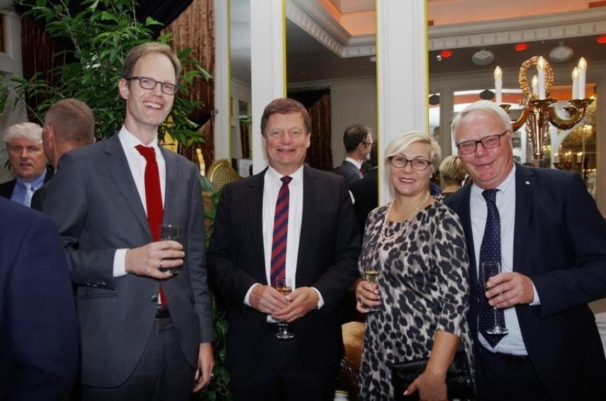 Konstantin Obolensky, Ambassador of Switzerland, Steinar Egil Hagen, Ambassador of Norway, Liene Derkaca, Mats Kjaer, former head of New Markets of AB SEB Bank in the Baltics