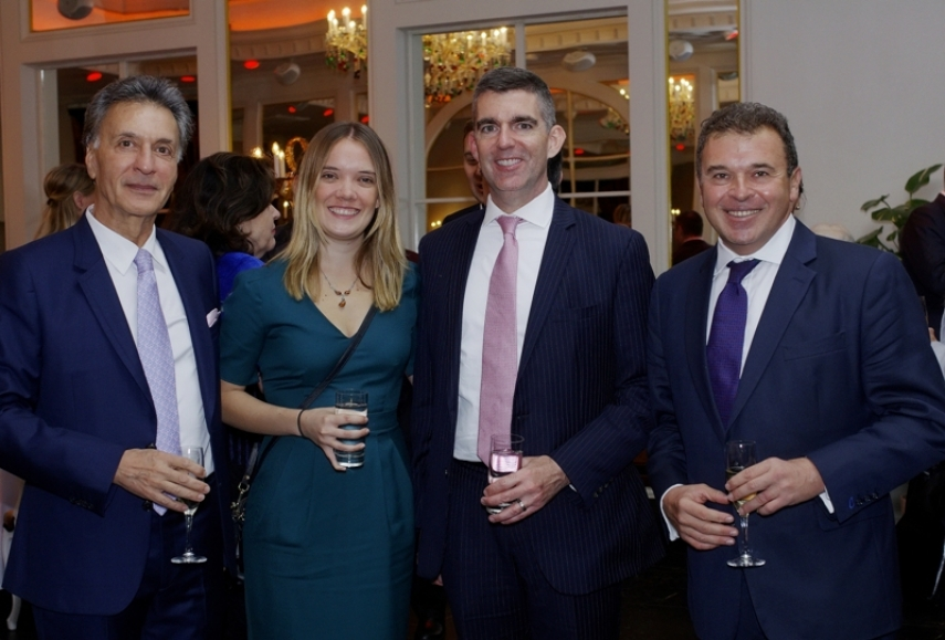 Hamid Ladjevardi, Chairman of American Baltic Investments, Kristen and Dan Rittenhouse, Economic and Political Officer of the U.S. Embassy in Latvia, Gene Zolotarev, Publisher of The Baltic Times