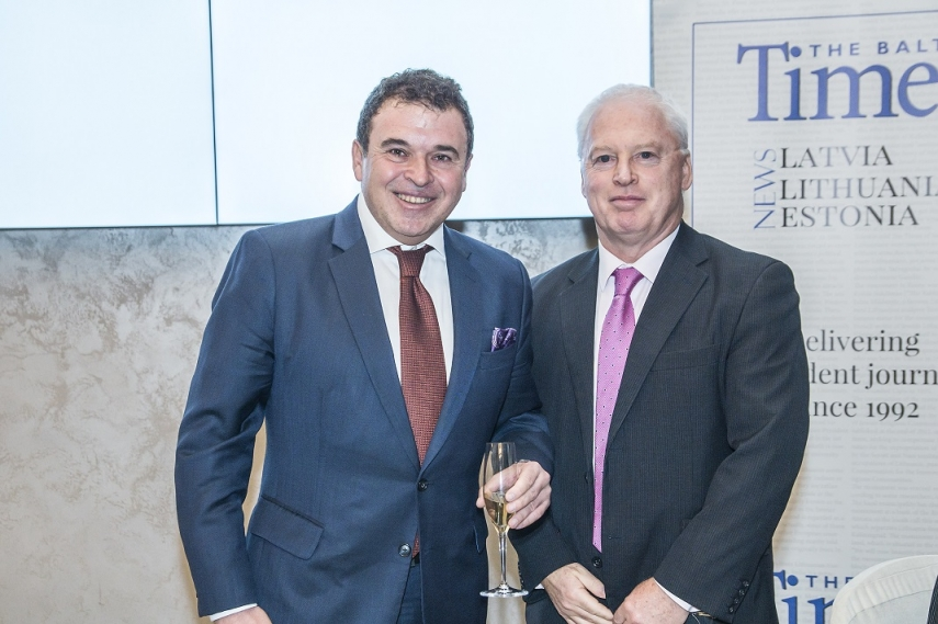 Gene Zolotarev, Publisher of The Baltic Times, His Excellency Mr. Jim Hennessy, Ambassador of Ireland in Latvia.