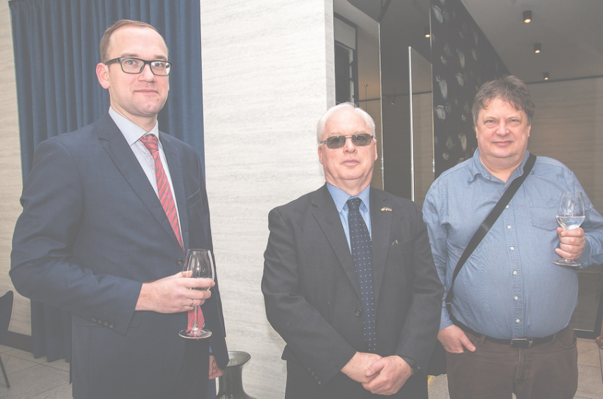 Ansis Spridzans, owner of Spridzans Law Office, Jim Henessy, ambassador of the Embassy of Ireland in Latvia and Ilmars Osmanis, CEO of HansaMatrix