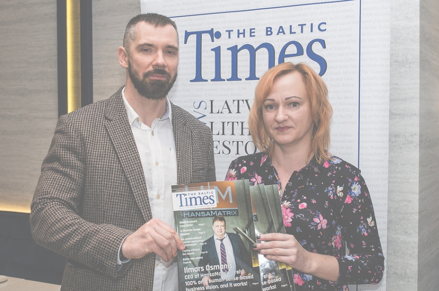 Linas Jegelevicius, The Baltic Times editor-in-chief and Vilma Gudeikaite, The Baltic Times layout designer