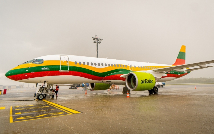airBaltic rolls out special Lithuanian Airbus A220-300 livery