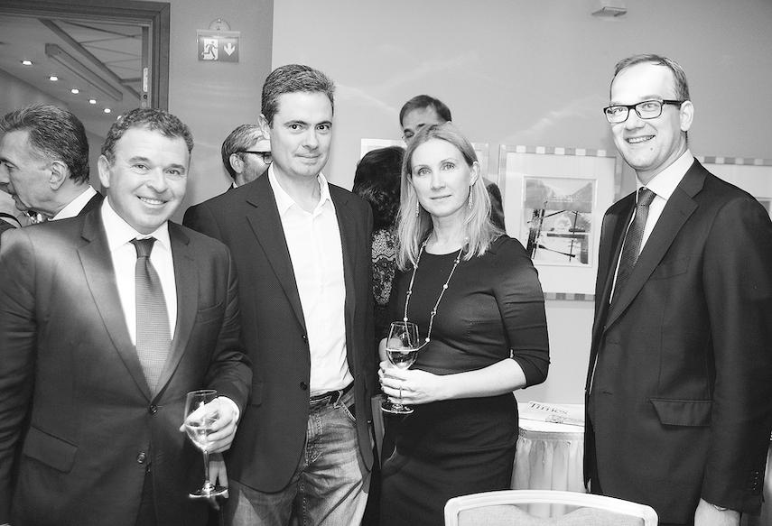 Gene Zolotarev, businessman Maxim Naumov & spouse, Ansis Spridzans, Managing Partner of Law Office Spridzans