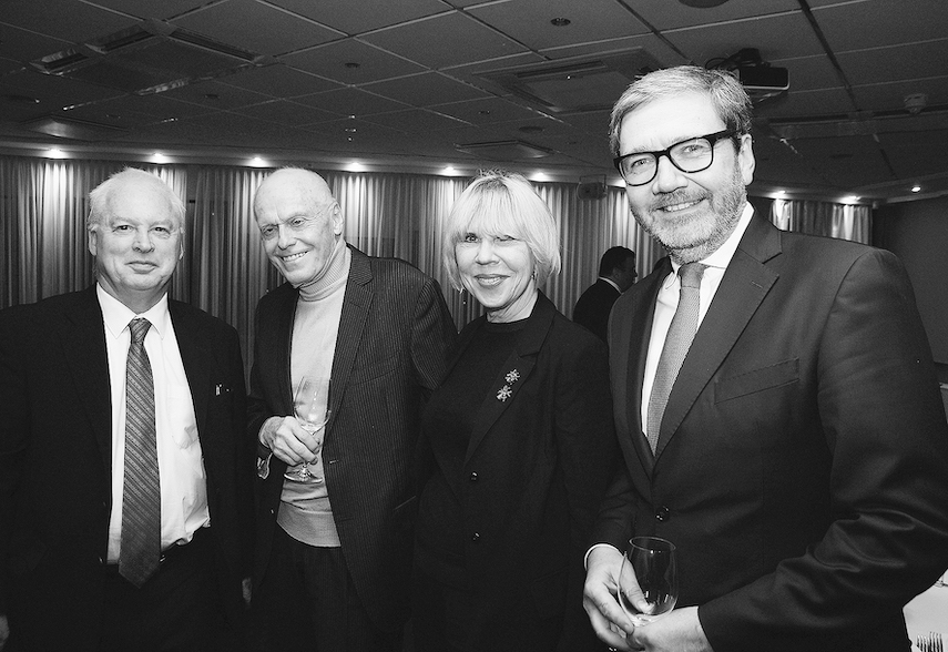 H.E. Jim Hennesy, Ambassador of Ireland to the Republic of Latvia, Valdis Birkavs, former Prime Minister of Latvia, Marina Dianova, Editor-in-chief of TITANIUM, Janis Loze, CEO of Loze & Partners Attorneys at Law