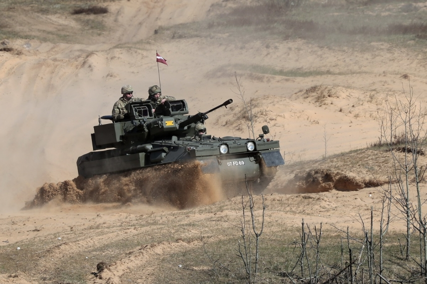 Repairs of CVR(T)s supplied to Latvian army still conducted in UK