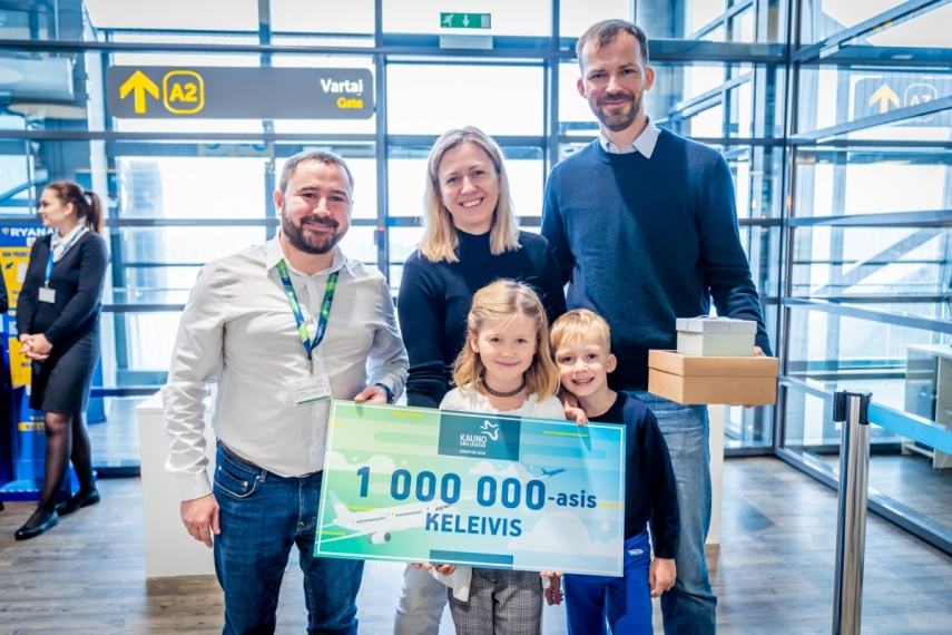 Kaunas Airport serves its one-millionth passenger and continues to focus on growth and development