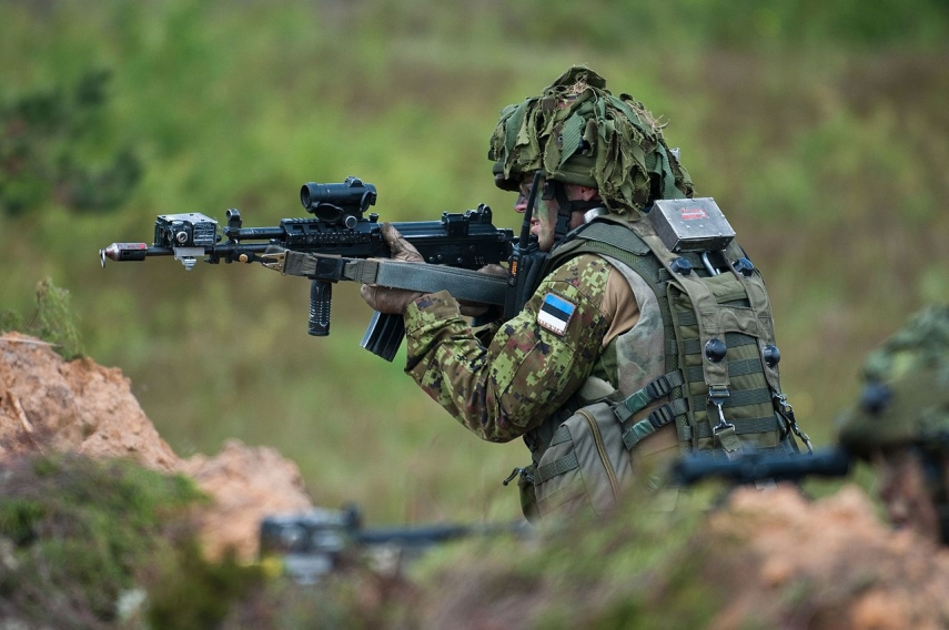 Over 400 Estonian troops practicing in Latvia