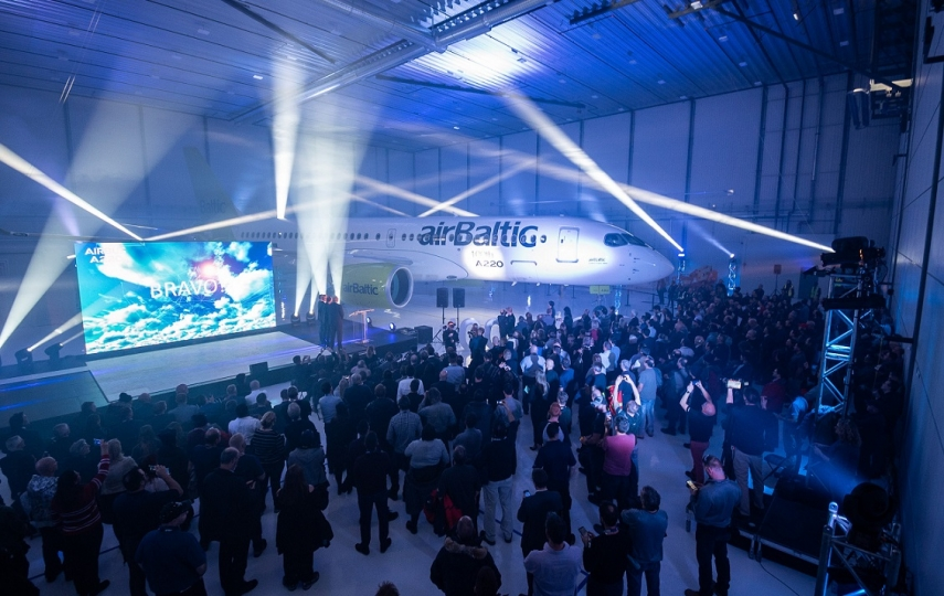 airBaltic in Canada celebrates its 21 st Airbus A220-300 in a New Livery