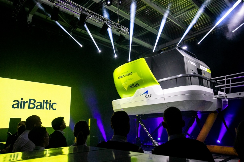 airBaltic presents Airbus A220 full flight simulator