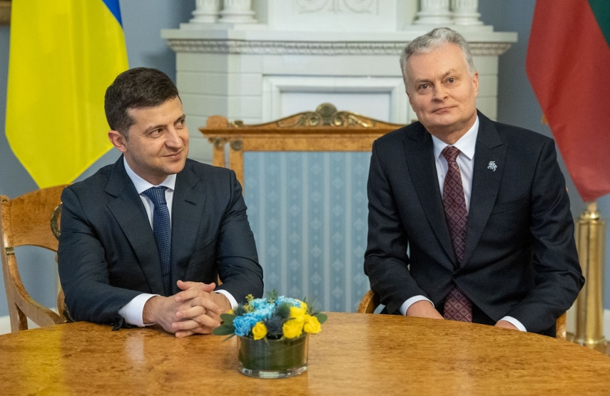 Lithuania's Nauseda welcomes Ukraine's ambition for seeking peace, criticizes Russia