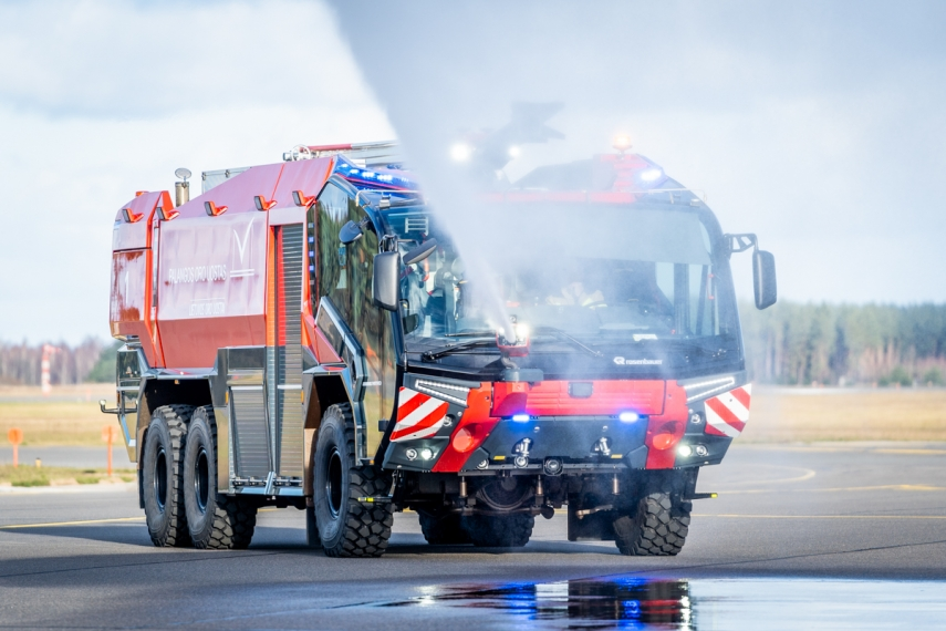 Palanga Airport received a brand-new fire rescue vehicle: similar models are in use at the world's busiest airports