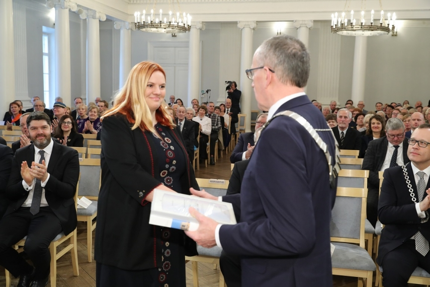 University of Tartu announced two scholarship holders at ceremony marking the anniversary of Estonia