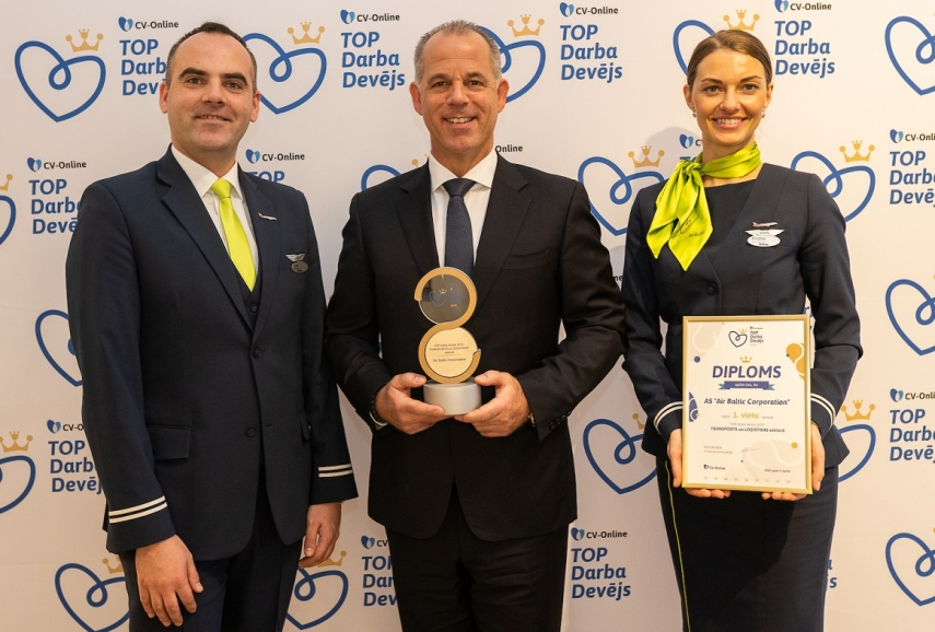 airBaltic Named the Best Employer in the Transport and Logistics Sector