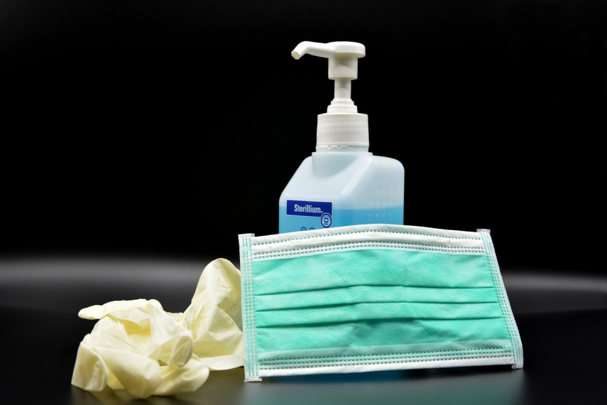 US supplies sanitizer and disposable gloves to schools in Latvia