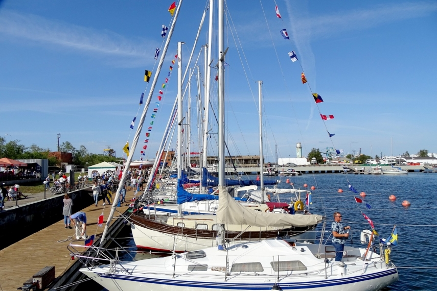 First sailing championship and parade of sails in Ventspils