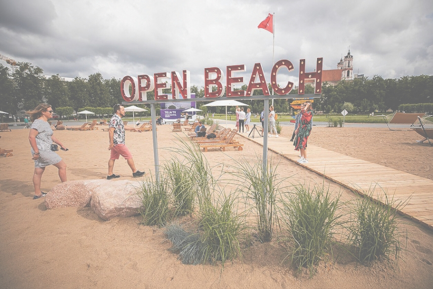 Vilnius' Open Beach in the blood-soaked city is more than just that