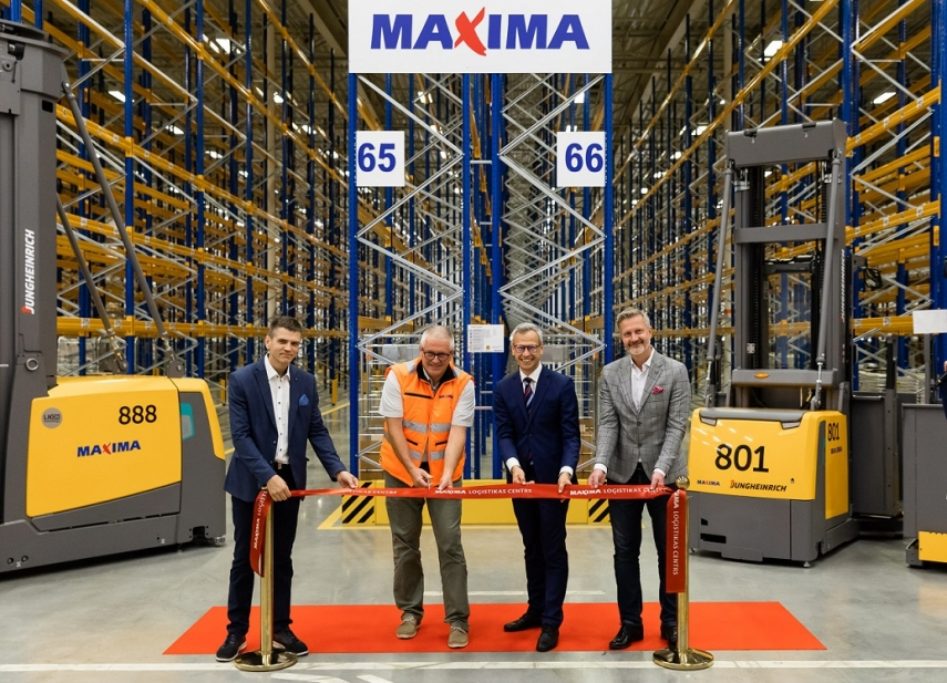 Maxima unveils modernised logistics centre