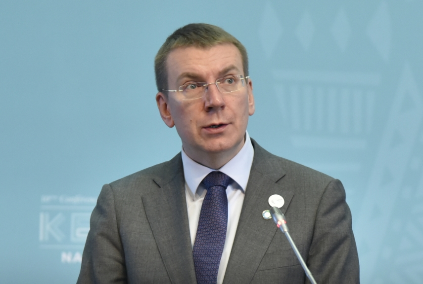 Rinkevics calls on Armenia and Azerbaijan to solve mutual conflict through peaceful dialogue